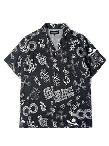TRASH RAYON HAWAIIAN SHIRT