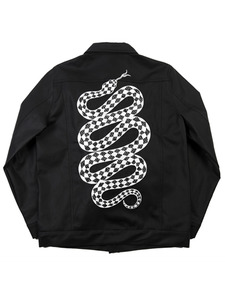 SNAKE COATED JACKET